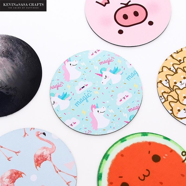 Free Shipping Low MOQ Wholesale Custom Printed Round Mouse Pads