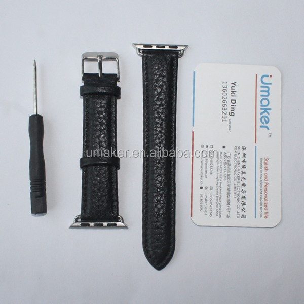 2016 hot selling genuine leather watch band for Apple watch