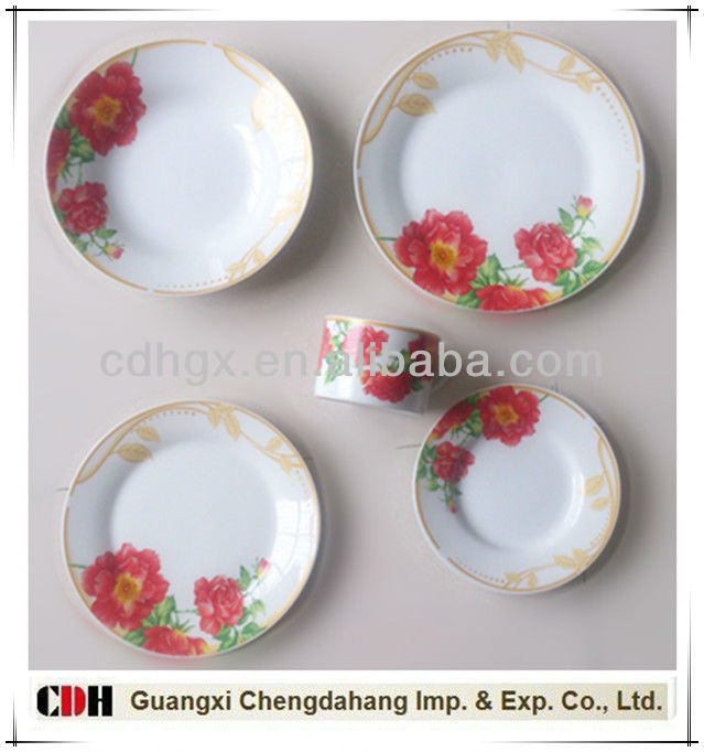 20pcs round shape porcelain tableware cut design