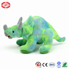 Dinosaur Mixed green plush soft standing Triceratops Dinosaur kids lovely toy