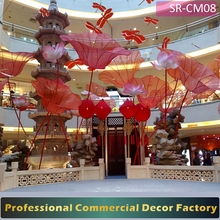 Customize commercial Shopping mall lotus flower decoration for spring decoration