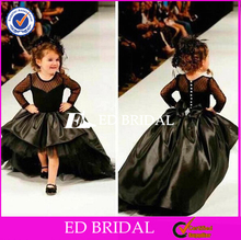 ED Special Designs Short Front Long Back Black Flower Girl Dress