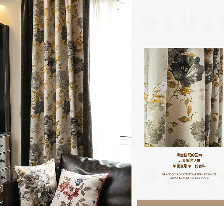 ready made polyester gold jacquard curtain fabric wholesale fancy luxury purple jacquard blackout curtain bedroom living room
