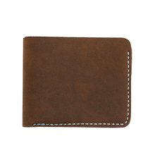 custom fashion mens leather genuine document travel coin pocket wallet