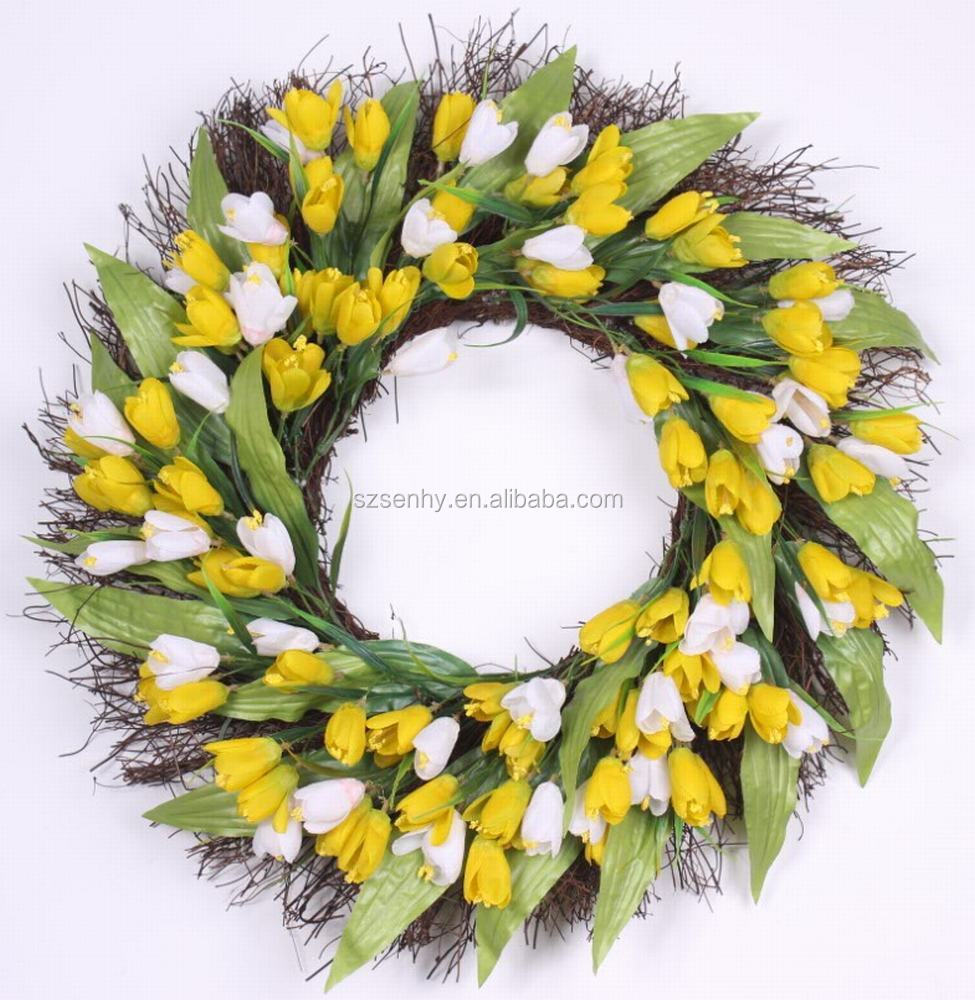 New Arrivel Spring tulip and Berry Wreath or Garland for Easter