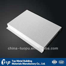 outdoor perforated H-shaped aluminium ceiling strips