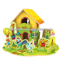 Robotime 3D Wooden Puzzle House Model Toy For Kids