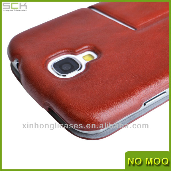 Wholesale Customized Leather Flip Cover For Samsung Galaxy S4 Fashion Case For Samsung I9500