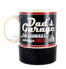 ceramic cup factory custom directly from china guangdong car tire mug tyre