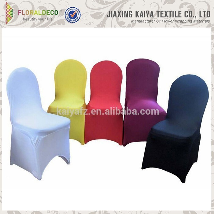 Soft material solid color 100% spandex cheap kid chair covers