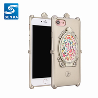2018 Alibaba Hot Items Rhinestone Cell Phone Case with Mirror For Samsung S7