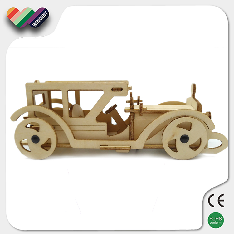 Solar Running Vintage Car Puzzle Christmas Toy Gift