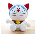 High quality custom cartoon cat plastic piggy bank ,oem pvc money save box for kids,customized oem piggy bank
