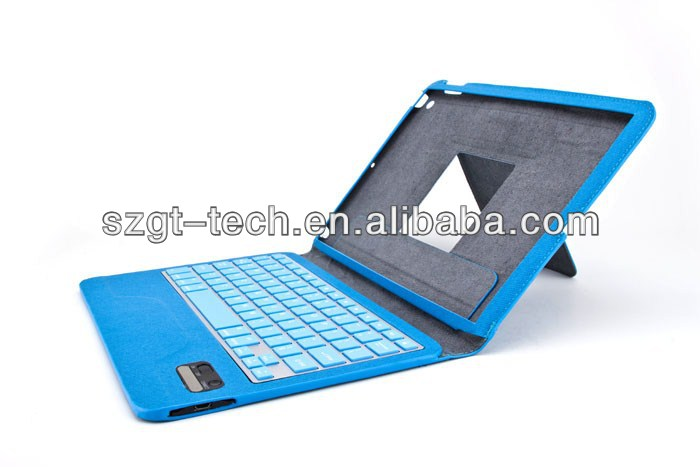 for ipad air bluetooth keyboard leather case with stand