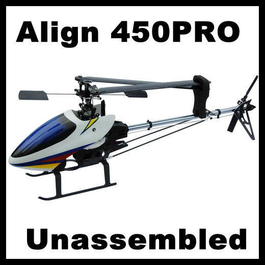 Align Topspeed 450Pro RC Helicopter Kit with Canopy, with glass fiber Blades (Align T-rex Compat.) Shaft drive system Unassemble