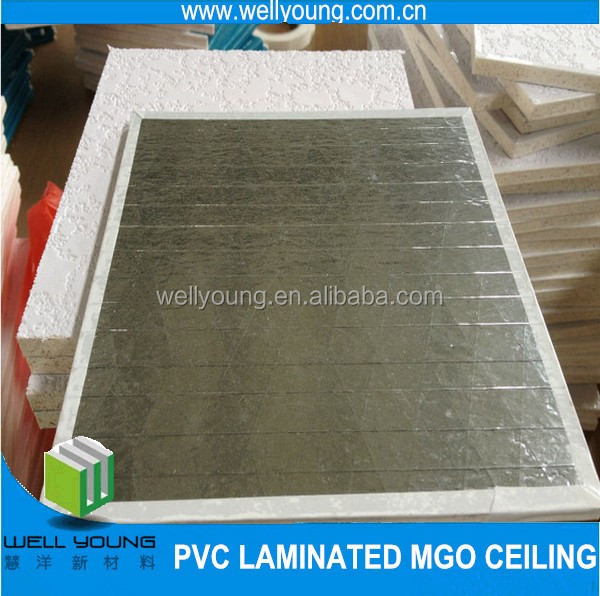 classic white pvc mgo board /mgo ceiling tiles for interior decoration