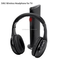Wireless TV headset multifunction 5-in-1 headphone with FM radio