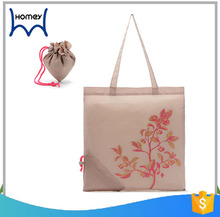 Wholesale large 190t polyester convenient folding shopping tote bag