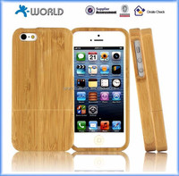 Natural handmade hard real wood bamboo phone case for iphone 5