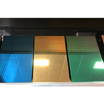 Factory wholesale 201 304 316 430 gold mirror finish color decorative stainless steel sheet for hotel