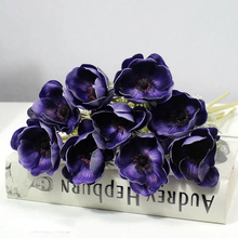 Flowers latex foam real touch hawaiian foam flowers artificial anemones artificial flowers PU Anemones Chinese Suppliers