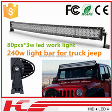 high brightness long life 240w led work light bar