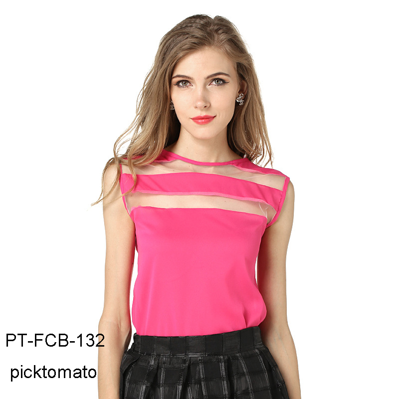 net joint technic fashion blouse and tops for women