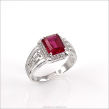 Wholesale synthetic ruby silver 925 man ring fashion 2015