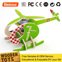 DIY Wooden Crafts Kids Toy Airplane