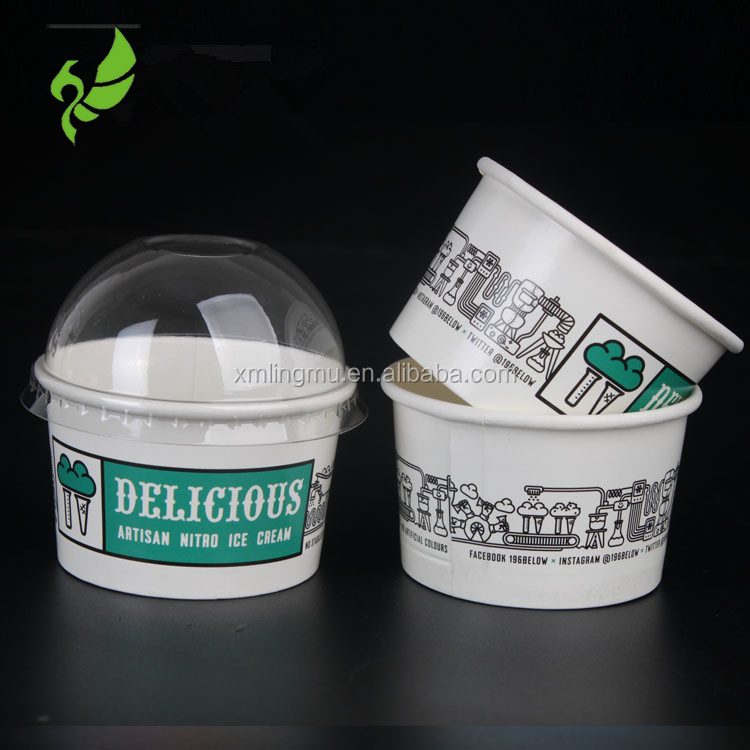 3oz Ice Cream Use and Paper,food grade pe coated cup paper Material ice cream containers