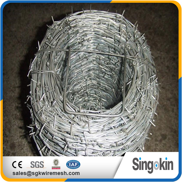 2017 hot sale high quality high quality iso9001:2008 high tensile colored barbed wire