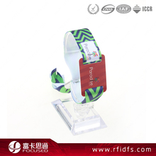 Wholesale cheap HF passive rfid woven wristband