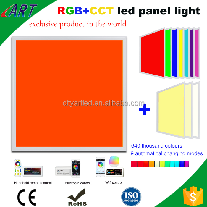 RGB+CCT 600x600 outdoor led panel light Square led panel ceiling light 24x24 inch for house