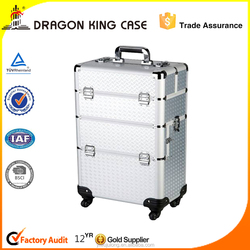 Luggage Cosmetic Case-Fashionable Aluminium Make-up Box- New-designed Trolley Case