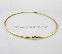 Fashion High Quality Gold Plated 316I Stainless Steel Choker Necklace for Women Simple Jewelry
