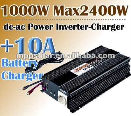 1000w 12V DC to AC 10A battery charger power inverter charger