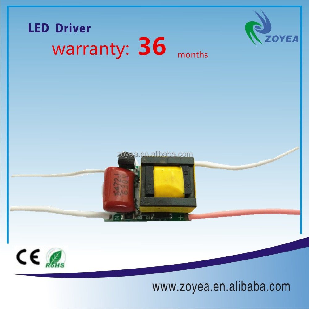5w pcb with CE and RoHs approved triac dimmable led driver
