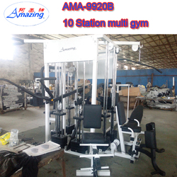 Integrated Gym Trainer Type multi gym exercise equipment 10 station multi gym include chest press ,sit up bench ,leg press