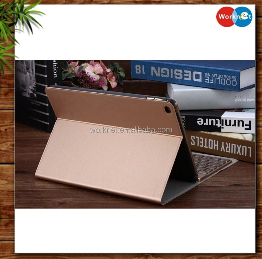 wholesale 12.9 inch leather stand case for Apple <strong>iPad</strong> Pro with wireless bluetooth keyboard -Worknet