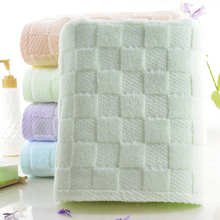 Wholesale Multi-Color Oem Custom Dri Soft Checkered Organic Cotton Bath Sheet Towel