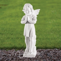 Outdoor stone carving and sculptures life size marble little angel garden statues wholesale