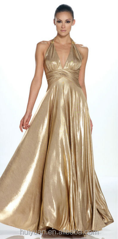 gold off-shoulder taffeta A-line evening sex prom evening gown