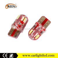 KEEN Good quality 12V T10 7014led 8smd canbus error free w5w car led reverse light/License Plate Light for all cars