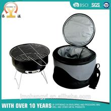 Small Foldable Portable BBQ Barbecue Grill with Cooler Bag