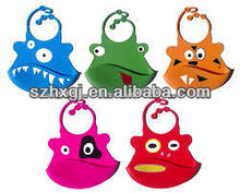 MA-1145 Cheap Silicone Rubber Reversible Training Silicon Feeding Baby Bibs For Party