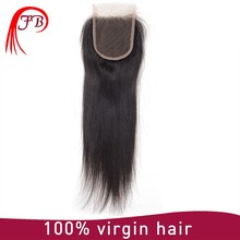 unprocessed virgin human hair closure invisible 4*4 lace closure brazilian hair closure
