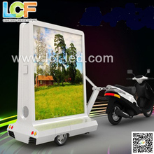P10 outdoor mobile trailer LED display towed by scooter