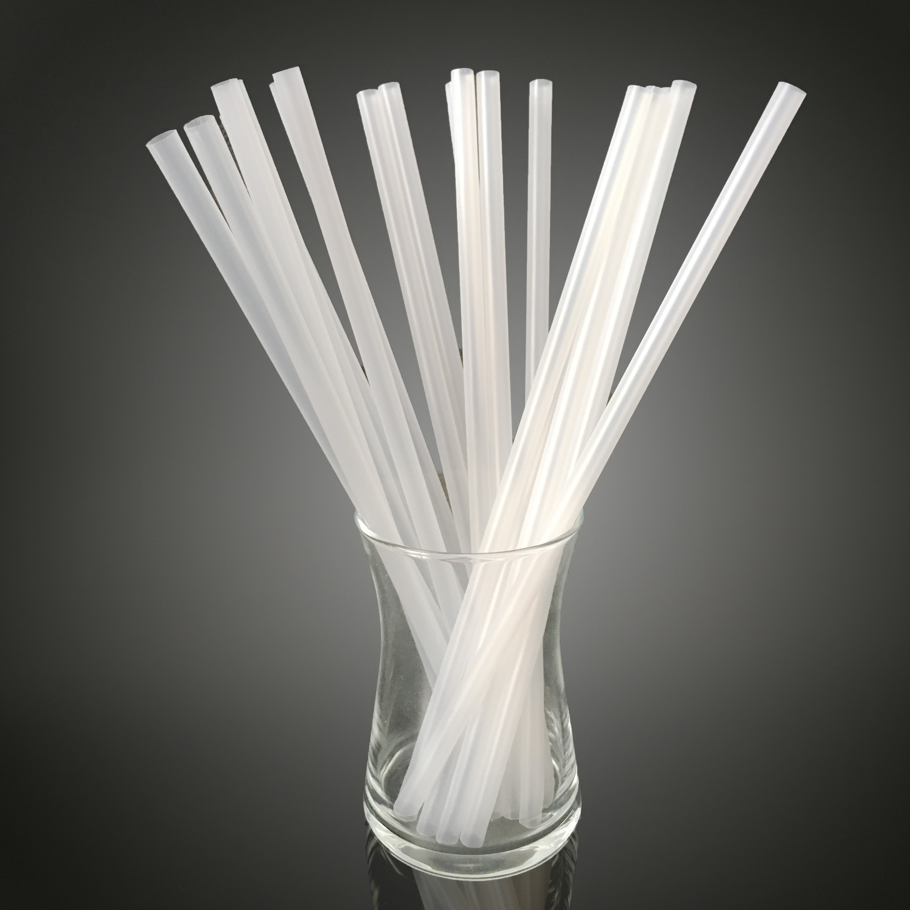 6mm 7mm Enviroment friendly Biodegradable disposable Compostible Biodegradable Renewable Corn Starch Based PLA straw for drink