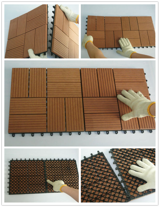 outdoor interlocking composite deck tiles