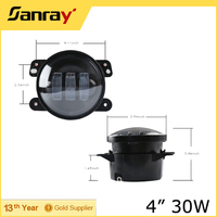 "4"" 4"" 30W led round fog light rav4 headlight for Jeep/tractor truck"
